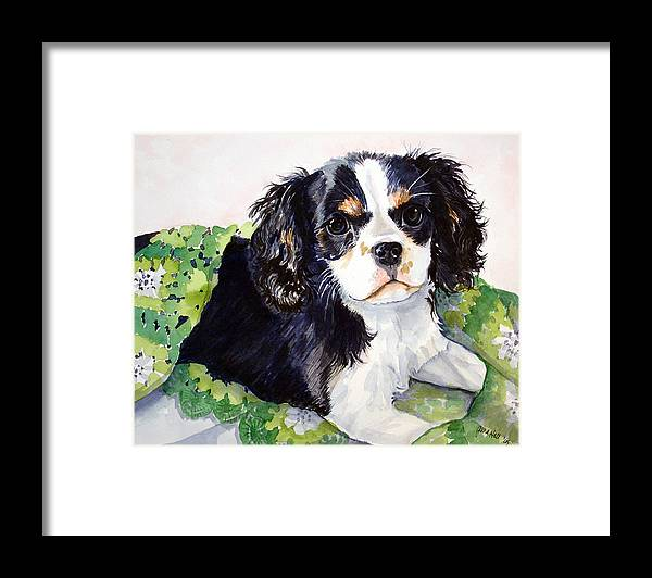 Canine Framed Print featuring the painting Casey by Gina Hall