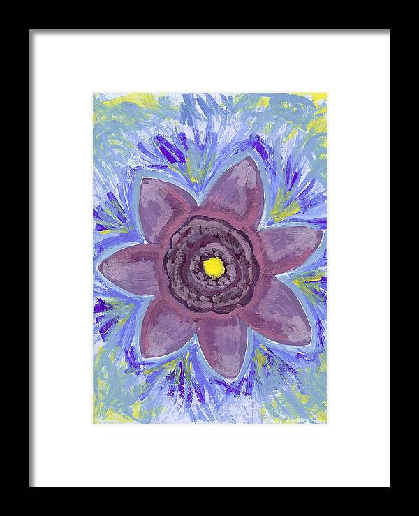 Flower Framed Print featuring the painting Cashmere by Laura Lillo