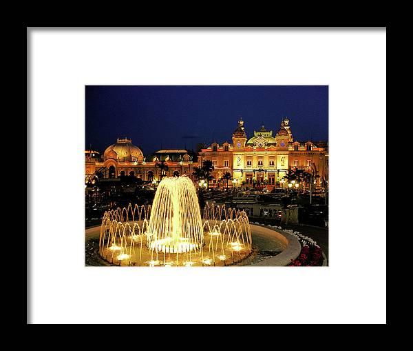 Casino Framed Print featuring the photograph Casino De Monte Carlo-circa 2005 by Robert Meyers-Lussier