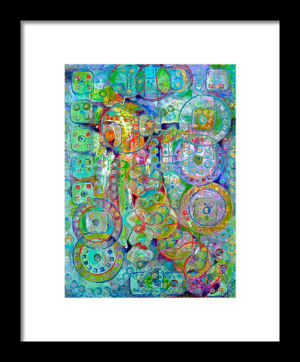 Abstract Framed Print featuring the painting Casino by Gretchen Ten Eyck Hunt