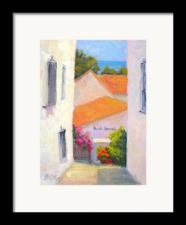 Spain Framed Print featuring the painting Casita Carmela by Bunny Oliver