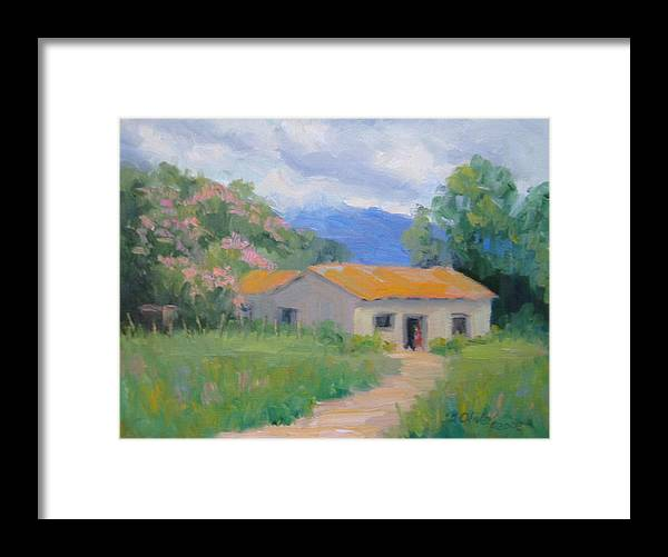 Honduras Framed Print featuring the painting Casita De Campo by Bunny Oliver