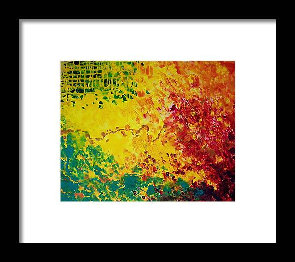 Abstract Framed Print featuring the painting Cassandra by Jess Thorsen