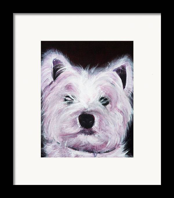Dog Framed Print featuring the painting Cassie by Fiona Jack