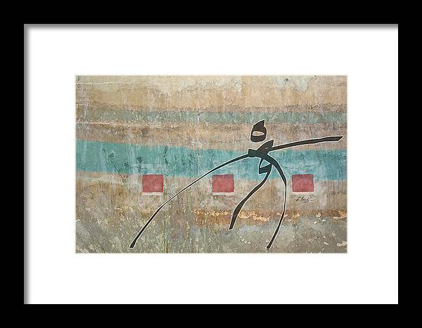 Contemporary Asian Japanese Oriental Abstract Design Gordon Beck Art Framed Print featuring the painting Casting About by Gordon Beck