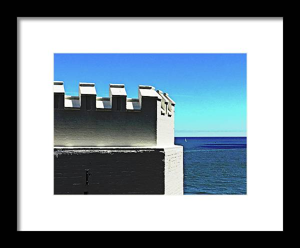 Castle Framed Print featuring the photograph Castle By The Sea by HazelPhoto