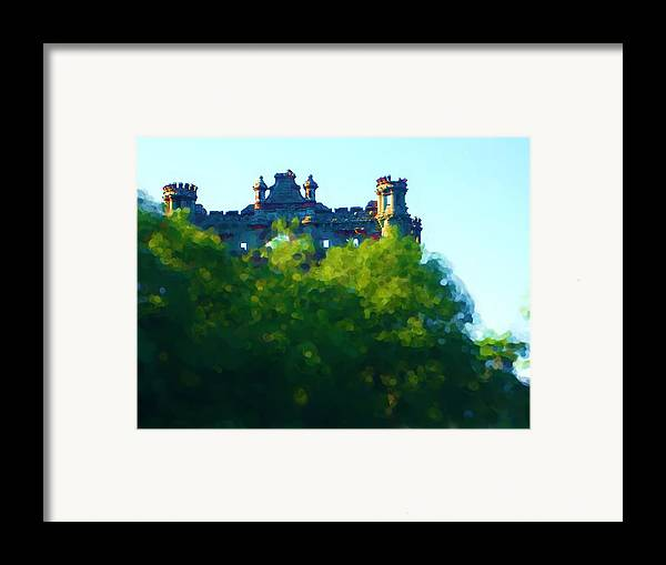 Framed Print featuring the painting Castle In The Sky   Going Home by Jonathan Galente