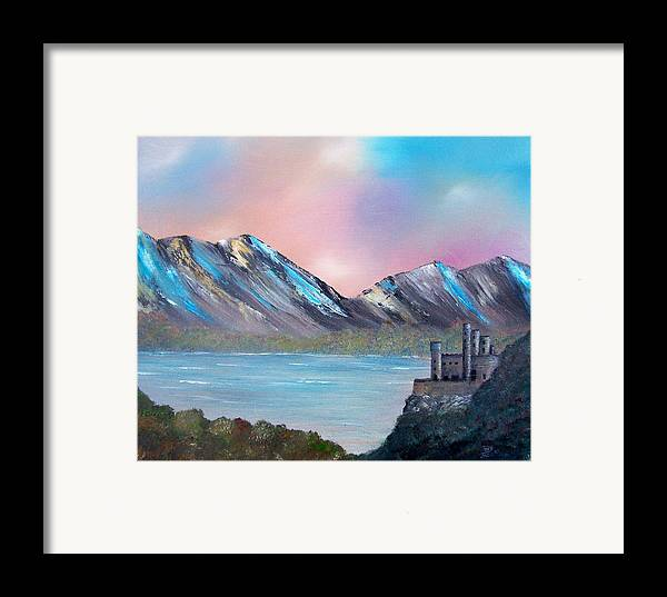 Landscape Framed Print featuring the painting Castle Landscape by Tony Rodriguez
