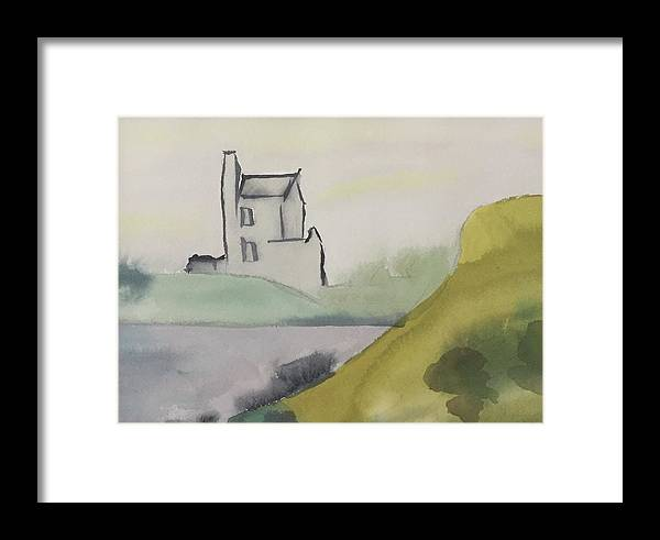 Castle Framed Print featuring the painting Castle On The Hill by Alice Singer
