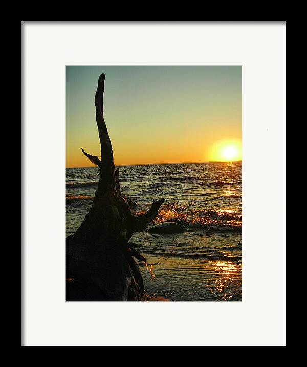 Sunset Framed Print featuring the photograph Castle On The Watch by Peter Mowry