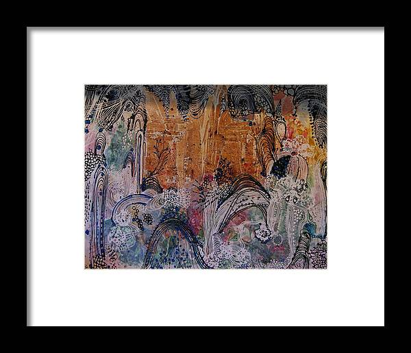 Castle Framed Print featuring the painting Castle by Sima Amid Wewetzer