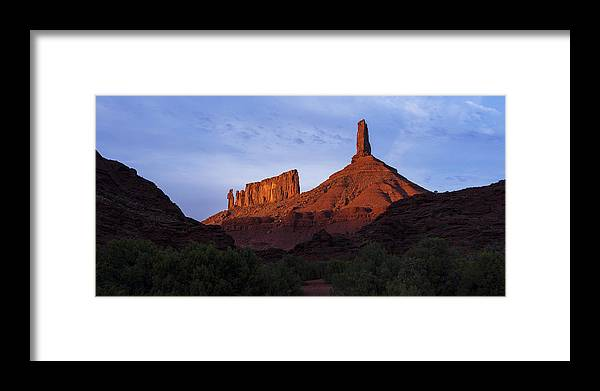 Castle Valley Framed Print featuring the photograph Castle Towers by Chad Dutson