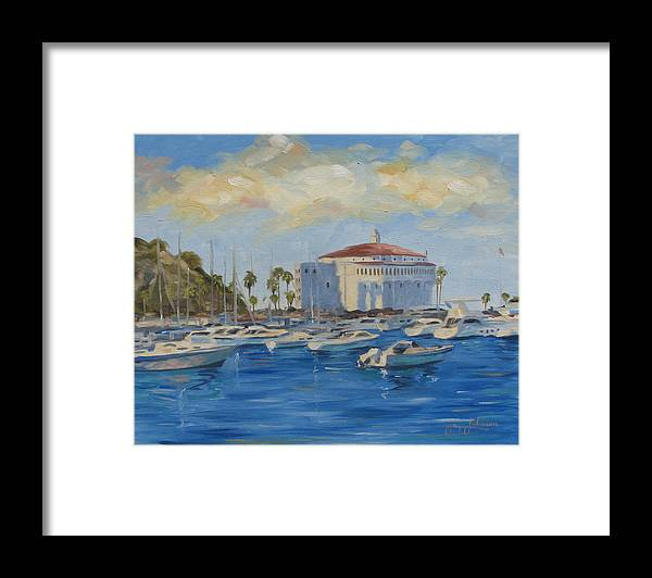 California Framed Print featuring the painting Catallina Casino by Jay Johnson