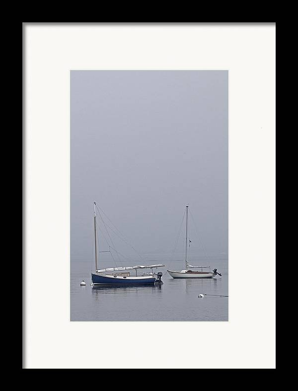 Boat Framed Print featuring the photograph Catboat And Sloop - Nantucket Harbor by Henry Krauzyk