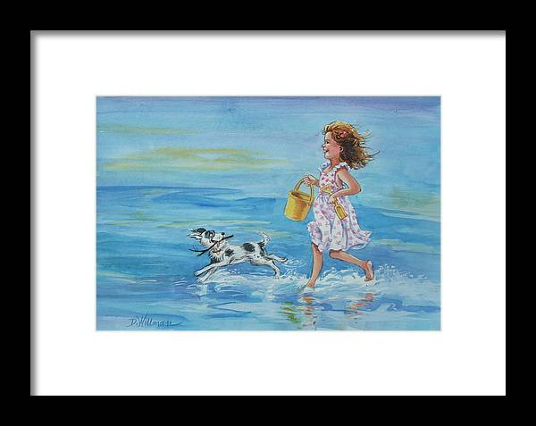 Watercolor Framed Print featuring the painting Catch Me If You Can by Dianna Willman