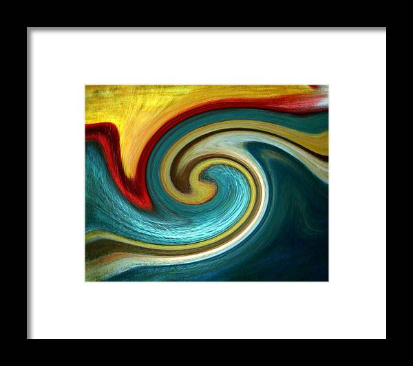 Abstract Framed Print featuring the digital art Catch the wave by Joseph Ferguson