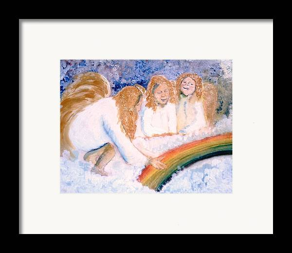 Rainbow Framed Print featuring the painting Catching Rainbows by J Bauer