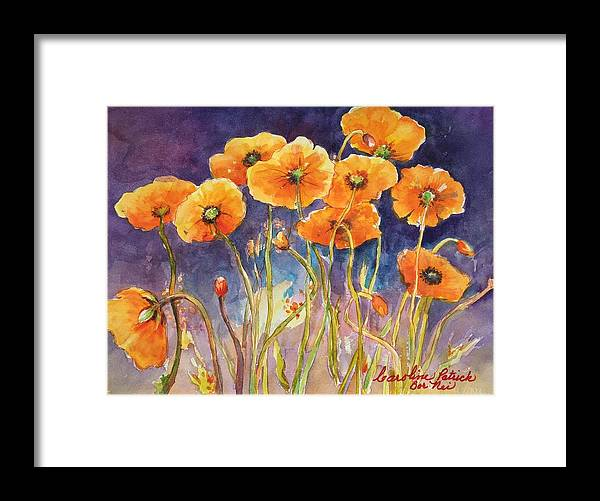 Poppies Framed Print featuring the painting Catching The Light by Caroline Patrick