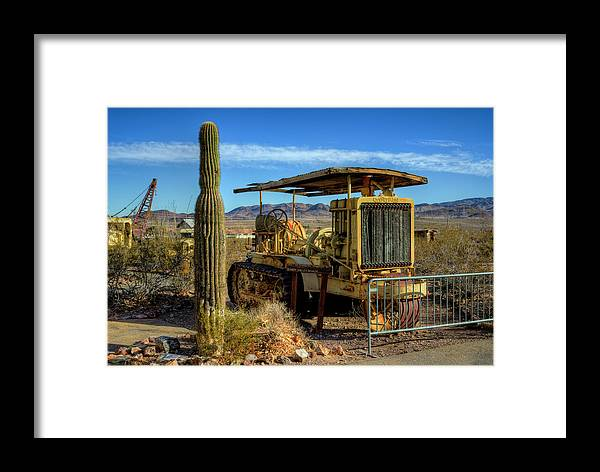 Nevada State Museum Framed Print featuring the photograph Caterpellar by Stephen Campbell