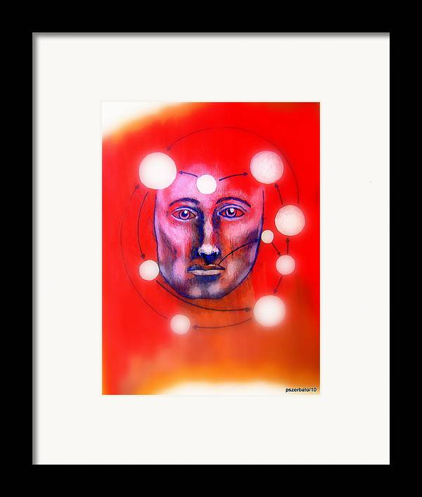 Cathartic Reaction Framed Print featuring the digital art Cathartic Reaction by Paulo Zerbato