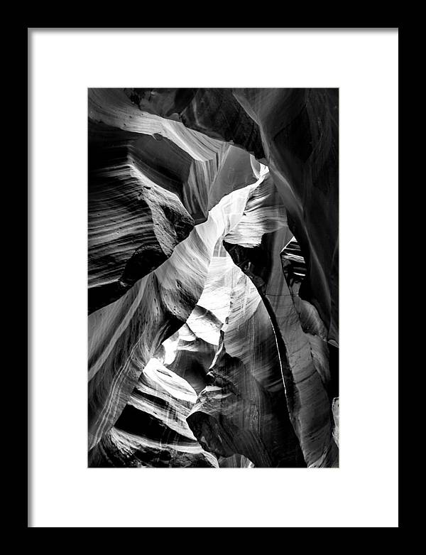 Antelope Canyon Framed Print featuring the photograph Cathedral Cave by Az Jackson