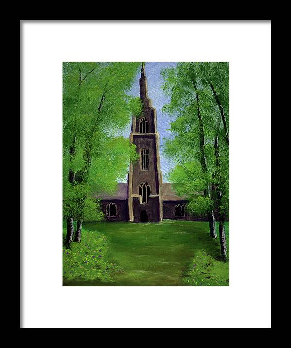 Cathedral Framed Print featuring the painting Cathedral by Dawn Blair
