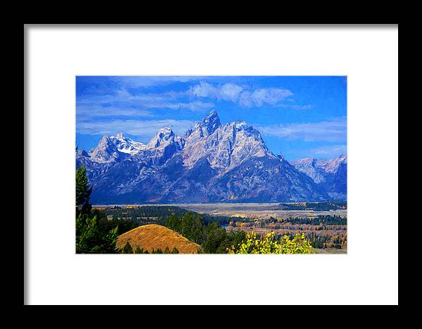 Tetons Framed Print featuring the photograph Cathedral Group Impressions by Greg Norrell