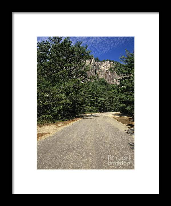 Travel Framed Print featuring the photograph Cathedral Ledge State Park - Conway New Hampshire Usa by Erin Paul Donovan