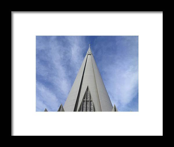 Cathedral Framed Print featuring the photograph Cathedral Minor Basilica Our Lady of Glory by Bruna Lima