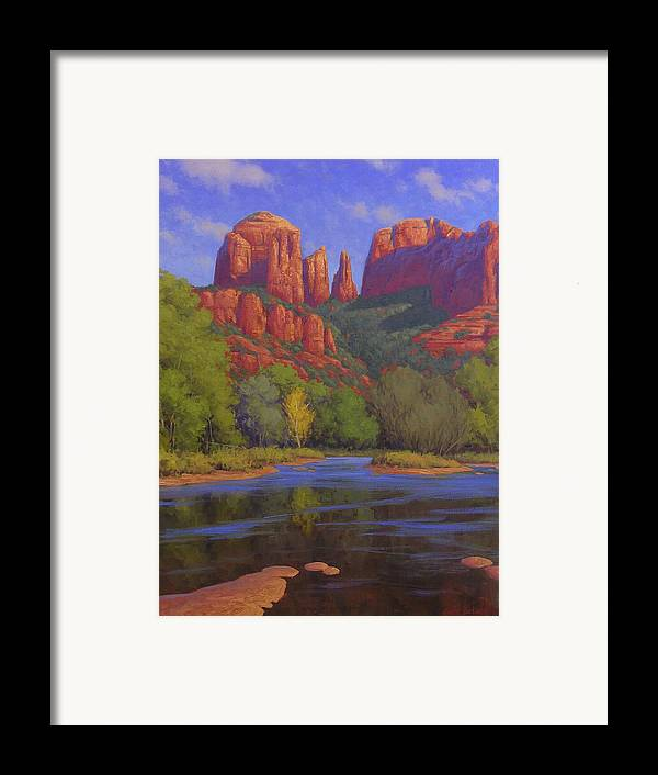 Sedona Framed Print featuring the painting Cathedral Morning by Cody DeLong