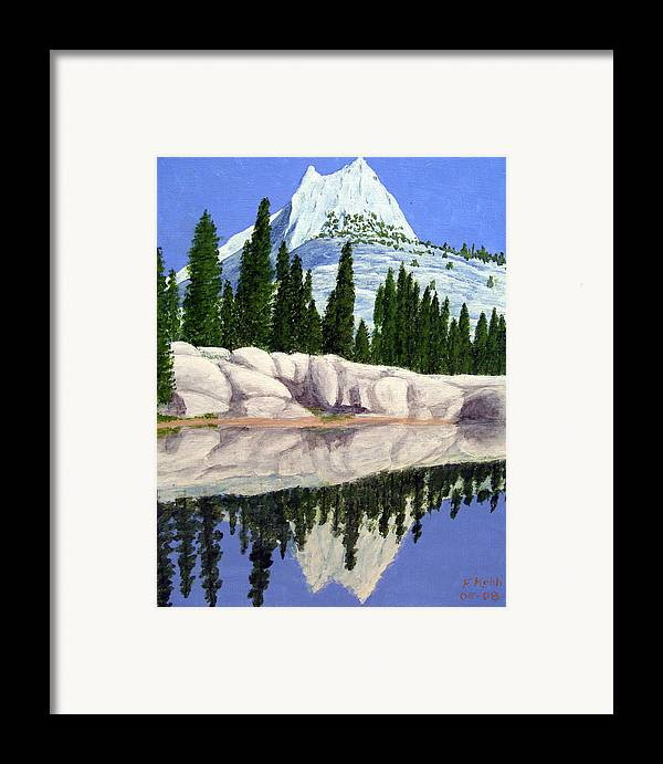 Landscape Paintings Framed Print featuring the painting Cathedral Peak by Frederic Kohli
