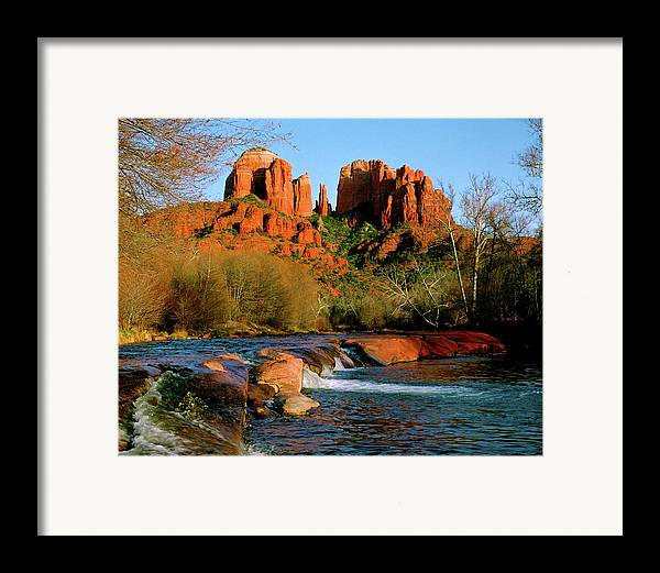 Afternoon Framed Print featuring the photograph Cathedral Rock At Redrock Crossing by Crystal Garner