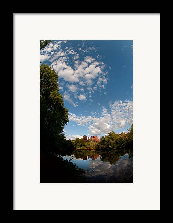 Cathedral Rock Framed Print featuring the photograph Cathedral Rock One by David Sunfellow