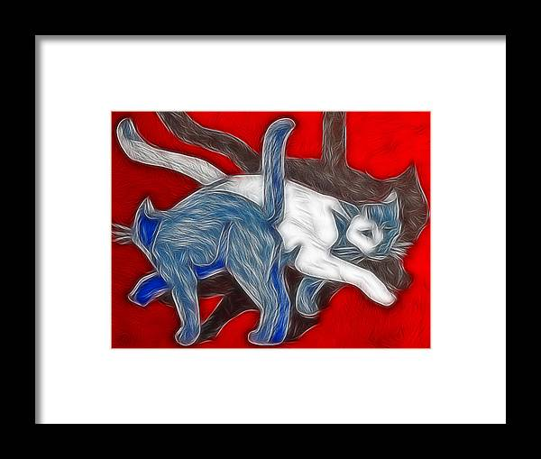 Cats Framed Print featuring the painting Catwalk by Joachim G Pinkawa