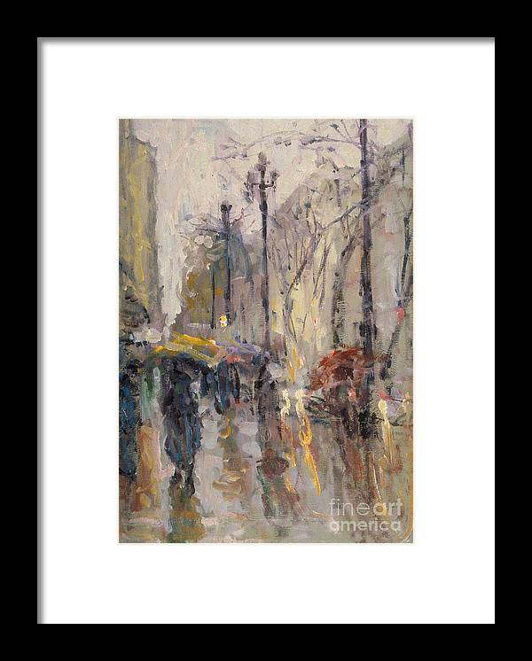 Plein-air Framed Print featuring the painting Caught In A Storm Of Wonder by Jerry Fresia