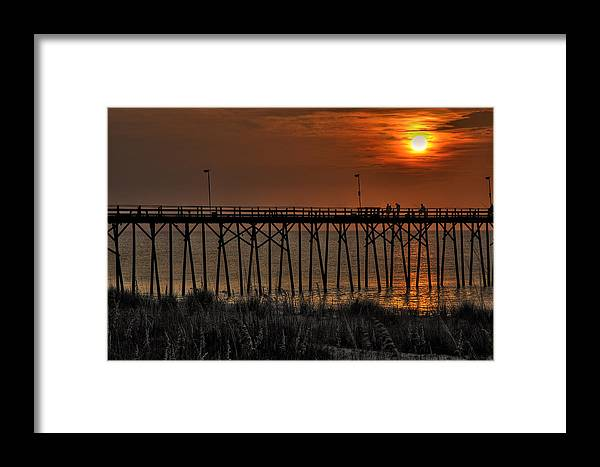 Sunrise Framed Print featuring the photograph Caught One by Dan Smathers