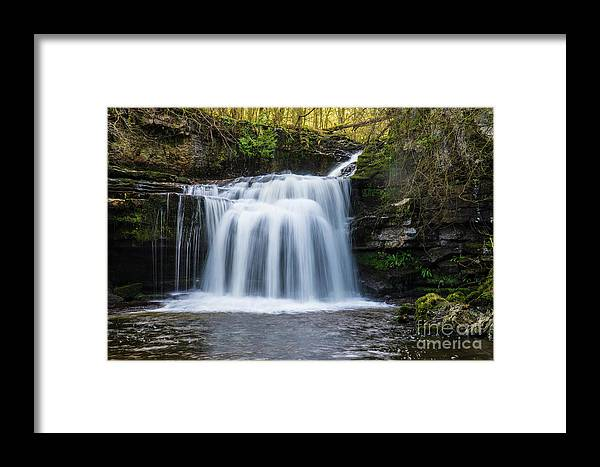 Water Framed Print featuring the photograph Cauldron Falls,west Burton, North Yorkshire. by Andy Bradley
