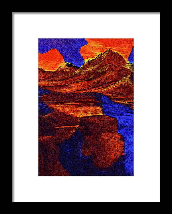 Alternate Reality Framed Print featuring the painting Causal Creation by Pam Ellis