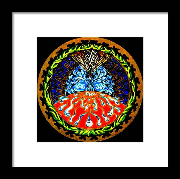 Spiritual Framed Print featuring the painting Cause And Effect by Pam Ellis