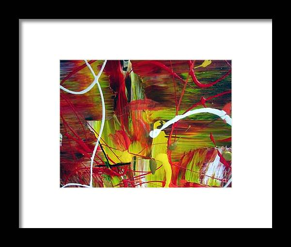 Caution Framed Print featuring the painting Caution by Dawn Hough Sebaugh