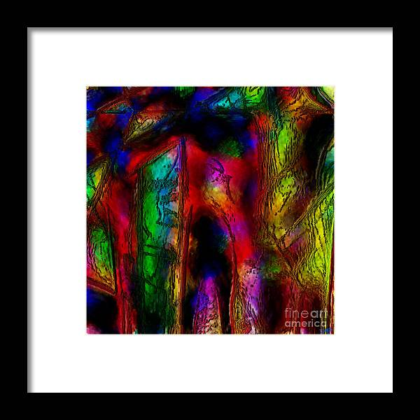 Abstract Framed Print featuring the painting Caverns Of The Mind by Dee Flouton