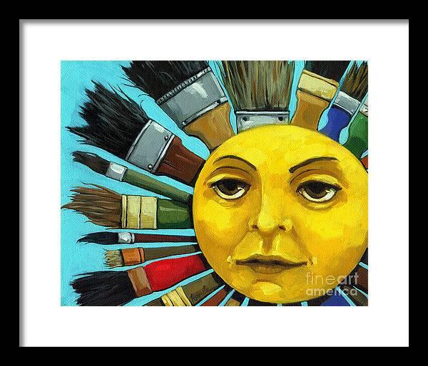 Cbs Sunday Morning Suns Framed Art Prints