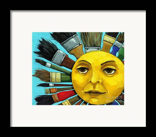 Cbs Sunday Morning Framed Print featuring the painting Cbs Sunday Morning Sun Art by Linda Apple