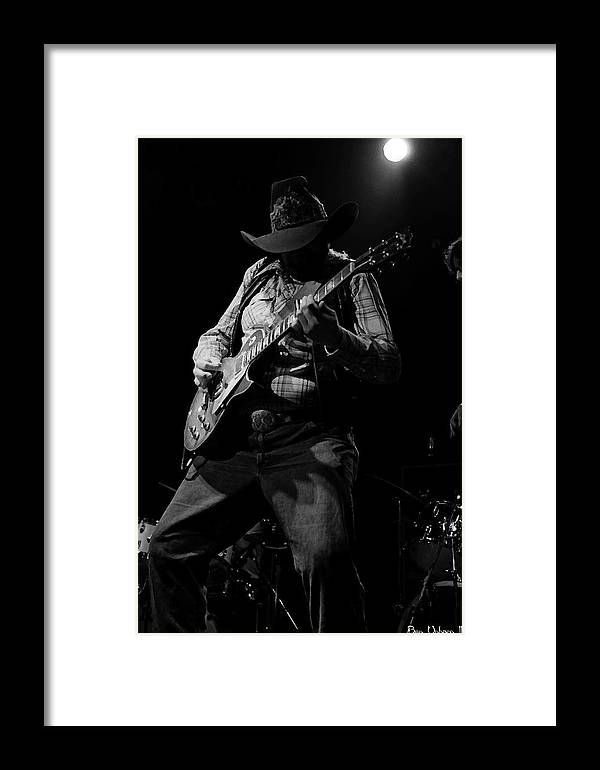 Southern Rock Framed Print featuring the photograph Cdb Winterland 12-13-75 #51 Enhanced Bw by Ben Upham