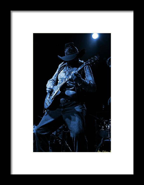 Southern Rock Framed Print featuring the photograph Cdb Winterland 12-13-75 #51 Enhanced In Blue by Ben Upham