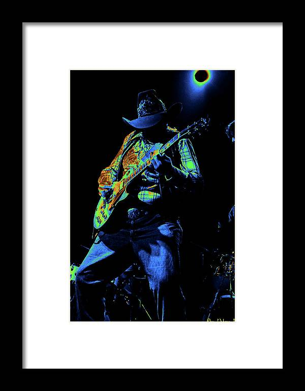 Southern Rock Framed Print featuring the photograph Cdb Winterland 12-13-75 #51 Enhanced In Cosmicolors #1 by Ben Upham