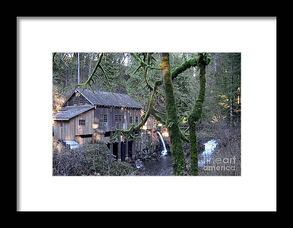 Landscape Framed Print featuring the photograph Cedar Creek Grist Mill by Larry Keahey