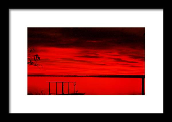 Lake Photography Framed Print featuring the photograph Cedar Creek Lake At Sunset by Evelyn Patrick
