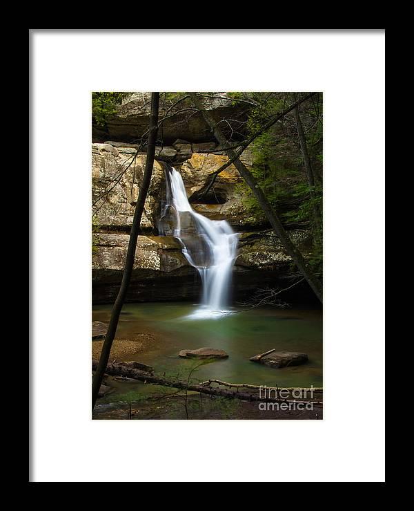 Hocking Hills Framed Print featuring the photograph Cedar Falls - Hocking Hills Ohio Waterfall by Ina Kratzsch