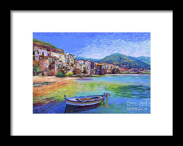 Italy Framed Print featuring the painting Cefalu Sicily Italy by Jane Small